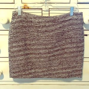 J. crew black and white wool mini skirt